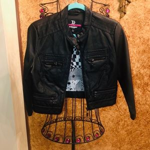 ❤️ NEW! DOLLHOUSE FAUX LEATHER CROPPED JACKET